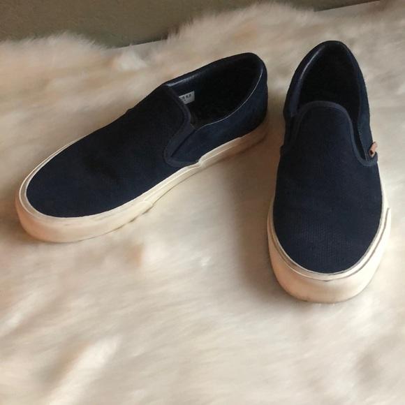 Vans Shoes   Vans Navy Blue Slipons